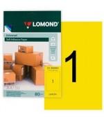 Lomond Самоклеющаяся А4 70 г/кв.м. 50 л, цвет желтый (2130005)