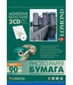 Фотобумага Lomond Матовая самокл. для CD, A4, 2 шт. (D117 / D18мм ), 90 г/м2, 25 л (2211013)