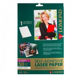 Бумага Lomond самоклеющаяся  полуглянцевая A4, 50 листов, 1 дел  210x297мм, 85 г/м2 (2600052)