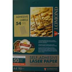 Lomond наклейка LAS золото фольга, фА4 54-дел.(Д=30мм), 80 г/м2 (2623005)
