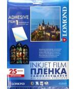 Пленка LOMOND PET Self-Adhesive Clear Ink Jet Film прозрачная самоклеящаяся, А4, 100 мкм, 25 л (2700003)