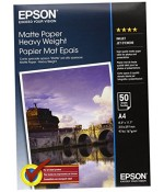 Фотобумага Epson Matte Paper-Heavyweight A4 (50 листов) (C13S041256)