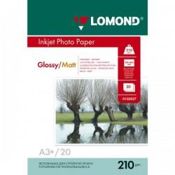 Фотобумага Lomond A3+ 210г/м2 20л., глянцевая/матовая (0102027)