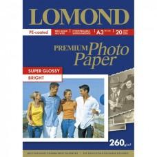 Фотобумага Lomond A3 260г/м2 20л., суперглянцевая (1103130)